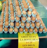 Fresh eggs from the country